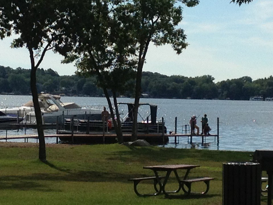 front views of surfside park/beach on lake minnetonka